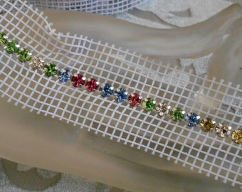 Multi Colored Rhinestone Trim