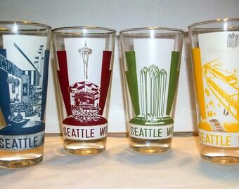 Vintage Eyeglass Frames Seattle : Vintage 1962 Seattle Worlds Fair Glasses Set of 4