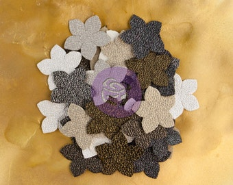"""SALE Prima Brillare Flowers """"Bountiful"""" - Textured Metallic Mulberry Paper Flowers - 24pcs -  Ships IMMEDIATELY from California - 575472"""