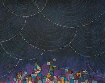 Indigo Dreams - Fine Art Print of my Original Painting