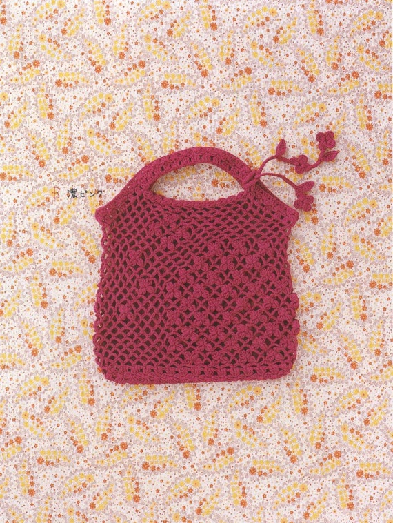 Crochet Bag Patterns, Cute Purses PDF, PDF Pattern Japanese Book No.25