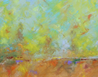 "Abstract Landscape 'Not What I Intended Again'- acrylic painting on canvas - size 100cm x 50cm (40"" x 20"")"