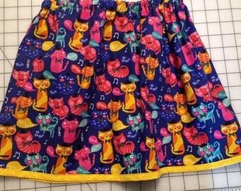 Toddler kitty skirt