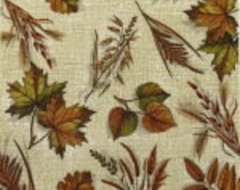Paper, Napkins, leaves, Decoupage, Scrapbooking, brown, beige, autumn, leaves, 2 pcs