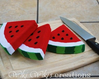 Felt Food Watermelon Slice
