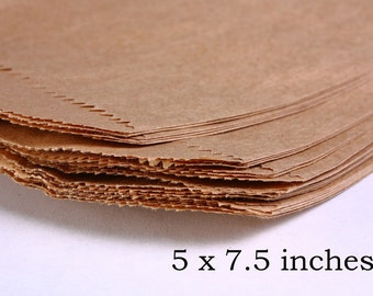 15 kraft paper bags 5 x 7.5 inches -  Paper bag merchandise (1408) - Flat rate shipping