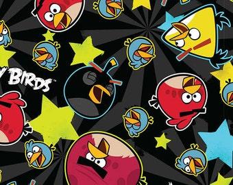 Fat Quarter, Birds, Angry Birds Roxio, Angry Birds Stars, Angry Birds, Bird Fabric, 02221