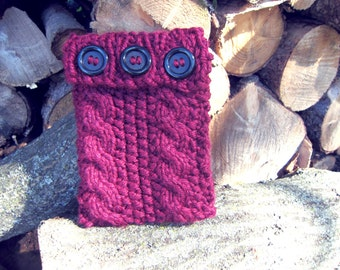 Ipad Mini Case Knitted Cover Sleeve Computer Electronic Cozy Burgundy Gadget Accessories