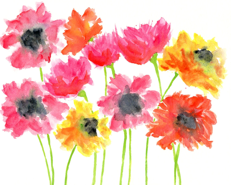 watercolor flower painting watercolor flowers watercolor