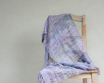 Lavender handwoven summer scarf