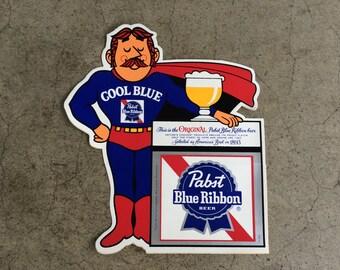 "Vintage Pabst Blue Ribbon ""Cool Blue"" Sticker"