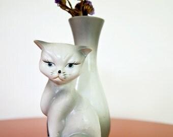 Vintage Cat Vase