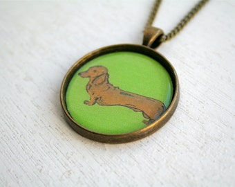 Dachshund Necklace Cute Necklace Sausage Dog Necklace