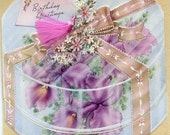 Vintage 1944 Birthday Card-Orchid Corsage in Corsage Box
