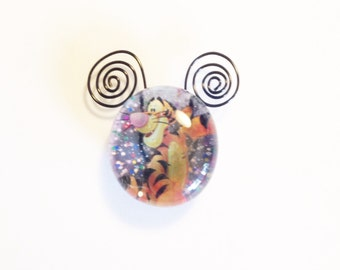 Wire Work Tigger Glass Magnet