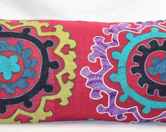 Vintage Hand Embroidered Suzani Pillow.