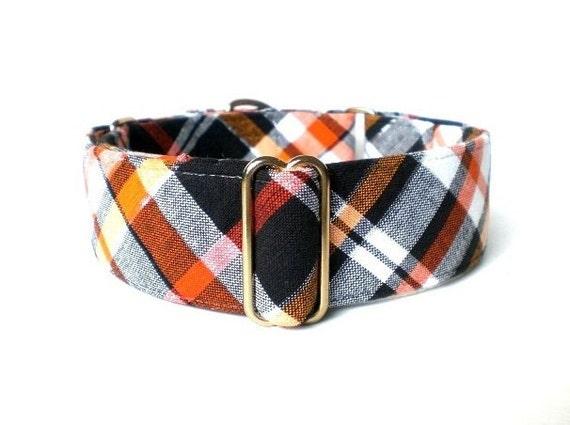 Equinox Plaid Martingale Dog Collar