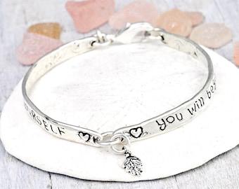 Trust Yourself Bracelet - Word Jewelry - Inspirational Bracelet -B206