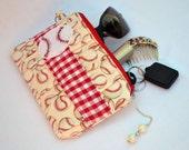 Baseball clutch, clutch bag, clutch wallet, clutch purse, pleated clutch, zippered pouch, summer clutch, wristlet, sports bag, makeup bag