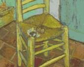 Vincent Van Gogh 'Chair '- Counted Cross Stitch Kit - DMC materials