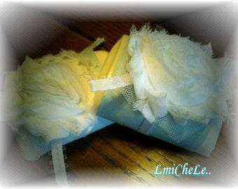 One Dozen Handmade Bar Soap Baby Shower Favor Soap Bridal or Baby Shower Soap Fabric Flower Soap Favors