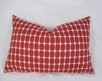 Kravet - Portfolio - Decorative Pillow Cover - Throw pillow - Red Cream