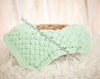 Instant Download Pdf Crochet Pattern - No. 40 Celtic Cable Diagonal Weave Photo Prop Mat Baby Blanket