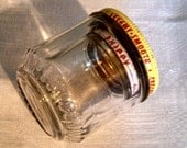 2 Vintage Nesting Glass Peanut Butter Jars, small
