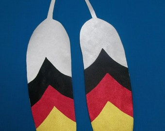 native american feather appliqués, medicine wheel