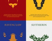 SALE 55% OFF The Houses of Hogwarts: All Four Houses Minimalist Harry Potter Poster