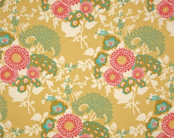 Joel Dewberry Fabric - Botanique Collection - Bold Bouquet - Butter-Choose Your Cut-1/2 or Full Yard