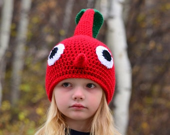 Red Pikmin Hat, 2T - Adult, Crochet By Allie