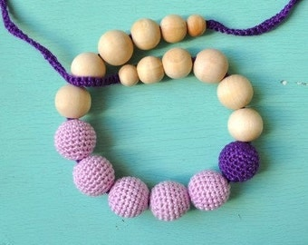 Nursing Necklace/Teething Necklace by SimplyaCircle-Breastfeeding Necklace-Eco-Friendly-Mother's day