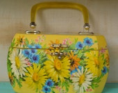 Vintage Butterfly Floral Decoupage handmade wooden box purse