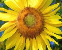 Sunflower Print, sunflower decor, yellow flowers, sunflower print, Happy flower
