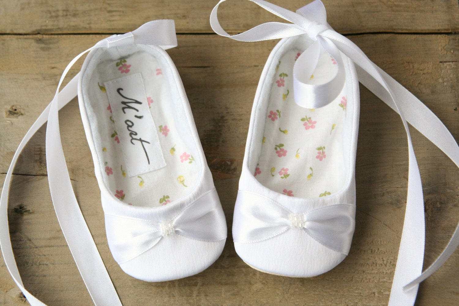 white or ivory satin baby shoes white ballerina shoes