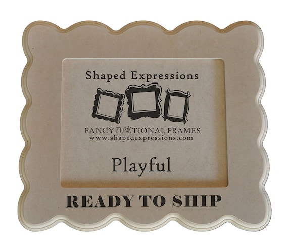 READY TO SHIP - 11x14 picture frame - Playful unfinished