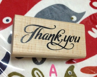 1 piece of Zakka Rubber Wooden Stamp - Thank You