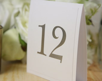 Wedding table number, White and Silver, Chic, Table decor, Tent, Butterfly, Double Sided