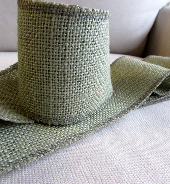 5 inch green burlap ribbon for Green burlap ribbon