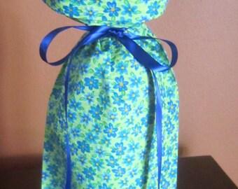 Wine Bottle Gift Bag Flowers