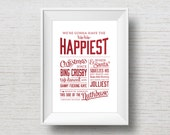 Christmas Vacation Quote - Funny Movie Quote Typography Art Print - 8x10, 11x14