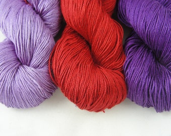 Silk Yarn Lace weight/ Maharaja Silk yarn, 150g / 5.25 oz / 1200 yards, Combo
