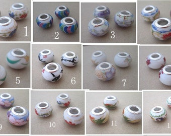 12pcs Mixed color ceramic beads 9mmx13mm  M001