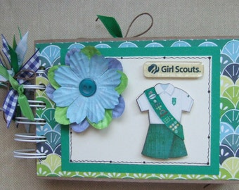 Premade Girl Scout Scouting Chipboard Scrapbook Album * Just Add Photos *