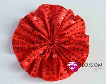 RED - The Ava Collection - Sequin Ballerina Flowers - DIY Flower Headband - Holiday Wedding Bridal Flowers Wholesale Blossom Supplies Rose