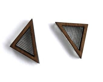 Wooden laser cut earrings