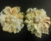 2 Vintage Lace Flower