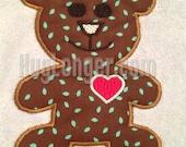 Brown Bear Applique Teddy Bear Embroidery Digital Design