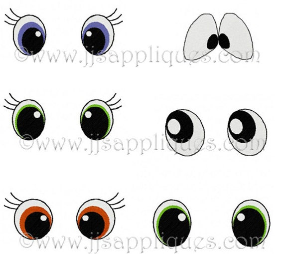 Machine Embroidery Designs Doll Eyes